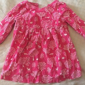 Pink corduroy long sleeve  woodland dress